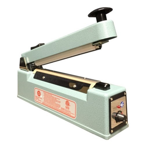 "SealerSales 8"" Hand Impulse Sealer w/ Sliding Cutter (5mm Seal Width) (KF-205HC) Image 1"