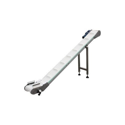 "SealerSales 85"" Motorized Incline Conveyor with Cleats (MC-INC-250) Image 1"