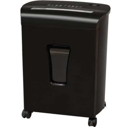 Sentinel FM101P Black 10-Sheet Level P-4 Micro-Cut Paper Shredder with Pullout Bin (FM101P-BLK) Image 1