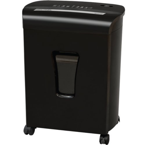Sentinel FM121P 12-Sheet Level P-4 Micro-Cut Paper Shredder with Pullout Bin (FM121P-BLK) Image 1