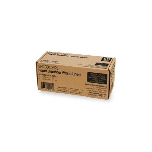 ShredCare Paper Shredder 6.6 Gallon Waste Bin Liners - 50pk (SCB5006), Brands Image 1
