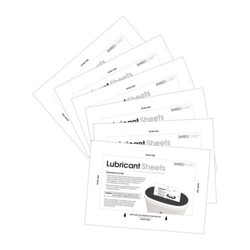 ShredCare Shredder Lubricant Sheets (SCSLS) Image 1