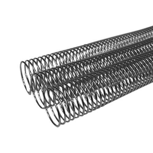 "1-1/4"" Silver Aluminum 4:1 Metal Spiral Coil Binding Spines - 100pk (MYMSC114SVA) Image 1"