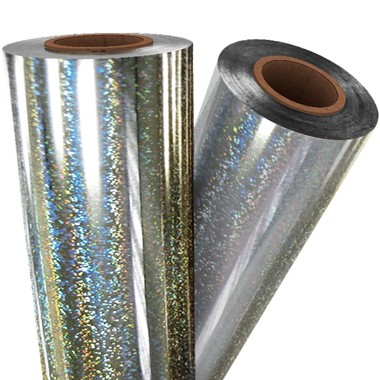 "Silver Glitter 8"" x 100' Laminating / Toner Fusing Foil (HP-SIL-25-8) Image 1"