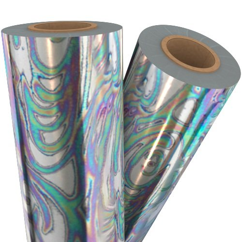 Oil Slick Silver Holographic Laminating / Toner Fusing Foil (FF-SP-OSSHLF), Pouches Image 1