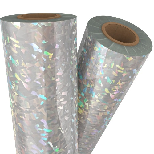 Shattered Glass Silver Holographic Laminating / Toner Fusing Foil (FF-SP-SGSHLF), Pouches Image 1