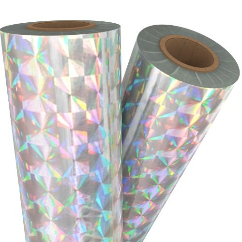 Spin Silver Holographic Laminating / Toner Fusing Foil (FF-SP-SPSHLF), Pouches Image 1
