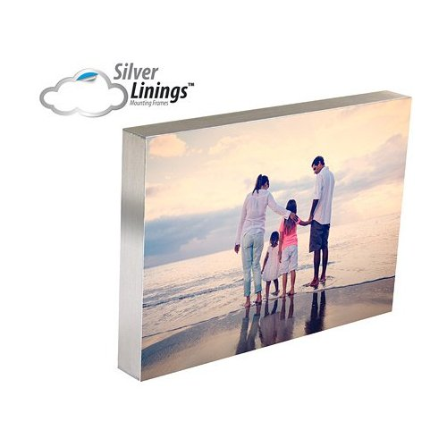 "Spiral Silver Linings Photo Mounting Frame - 8"" x 8"" Self-Adhesive - 10/Bx (8688MOUNT), Laminating Film Image 1"