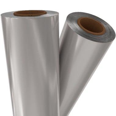 "Premium Silver Matte Metallic 8"" x 100' Laminating / Toner Fusing Foil (SIL-02-8) Image 1"