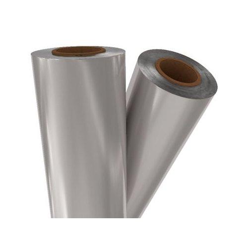 "Silver Matte Metallic 12"" x 500' Toner Fusing/Sleeking Foil - 3"" Core (SIL-02-3-12) Image 1"