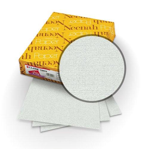 Neenah Paper Silverstone 80lb A4 Size Classic Linen Cover - 25pk (MYCLINA4SS) - $18.29 Image 1
