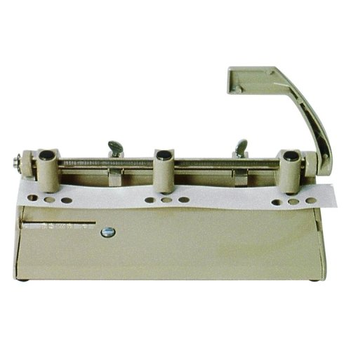 "Skilcraft Beige Heavy-Duty Adjustable 3-Hole Punch (13/32"" Holes) (NSN1394101)"