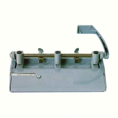 "Skilcraft Gray Heavy-Duty Adjustable 3-Hole Punch (13/32"" Holes) (NSN2633425), Binding Machines Image 1"