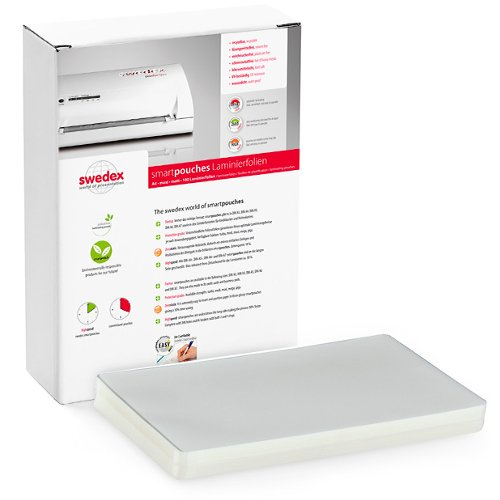 "Swedex 2.5mil 12"" x 18"" Menu Size High Speed Laminating Pouches - 100pk (MOC8124310001), Pouches Image 1"