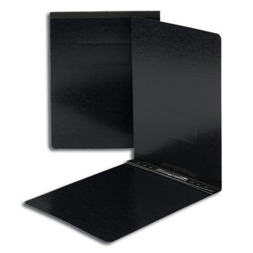 "Smead 2"" Black 8.5"" x 11"" Pressboard Report Cover with Top Prong Fastener (SMD-81125) - $5.09 Image 1"