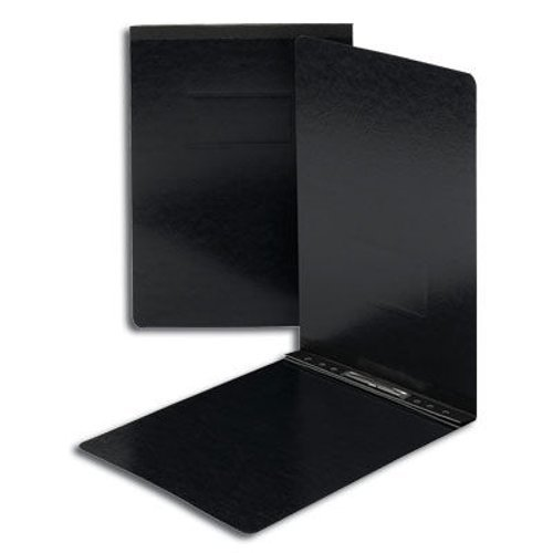 "Smead 3"" Black 11"" x 17"" Pressboard Report Cover with Top Prong Fastener (SMD-81179)"