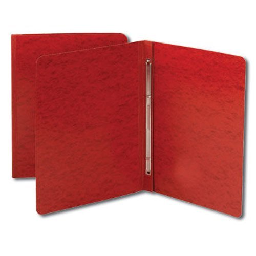 "Smead 3"" Bright Red 8.5"" x 11"" Pressboard Report Cover with Side Prong Fastener (SMD-81251)"
