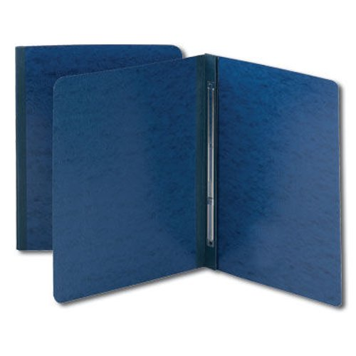 "Smead 3"" Dark Blue 8.5"" x 11"" Pressboard Report Cover with Side Prong Fastener (SMD-81351)"