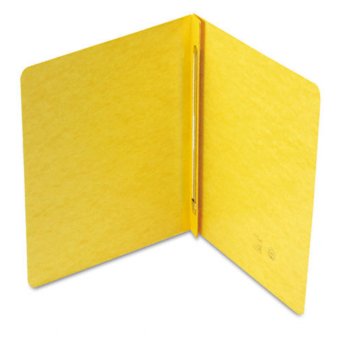 "Smead 3"" Yellow 8.5"" x 11"" PressGuard Report Cover with Side Prong Fastener (SMD-81852) Image 1"
