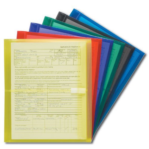 "Smead Assorted Side-Load 8.5"" x 11"" Poly Envelopes with Hook-and-Loop Closure - 6pk (SMD-89669) - $10.29 Image 1"
