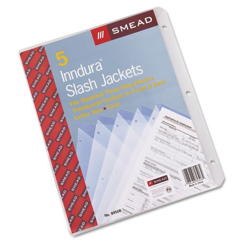 Smead Translucent Binder Slash Jackets - 5pk (SMD-TBSJ) Image 1