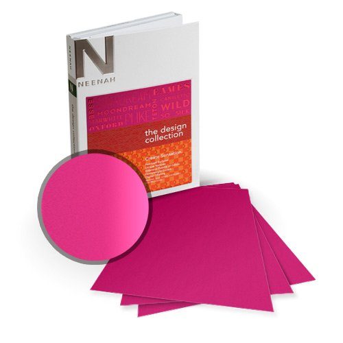 "Neenah Paper So Silk Beauty Pink Super Smooth 13"" x 19"" 92lb Card Stock - 4 Sheets (NSSICBP405-H) Image 1"