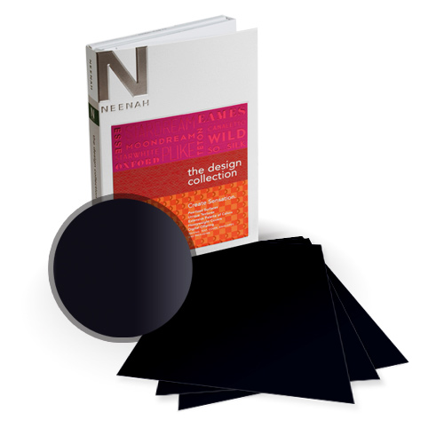 "Neenah Paper So Silk Black Style Super Smooth 5.5"" x 8.5"" 130lb Card Stock - 18 Sheets (NSSICBKS566-C) Image 1"
