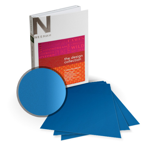 "Neenah Paper So Silk Fair Blue Super Smooth 8.5"" x 11"" 92lb Card Stock - 9 Sheets (NSSICCFB405-A) Image 1"