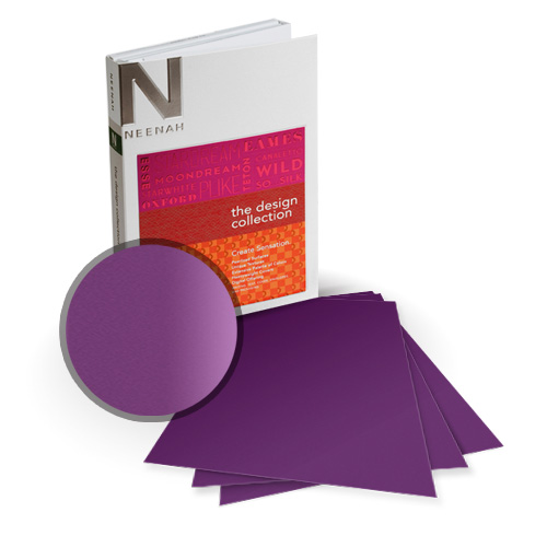 "Neenah Paper So Silk Fashion Purple Super Smooth 12"" x 18"" 130lb Card Stock - 4 Sheets (NSSICFP566-G) Image 1"