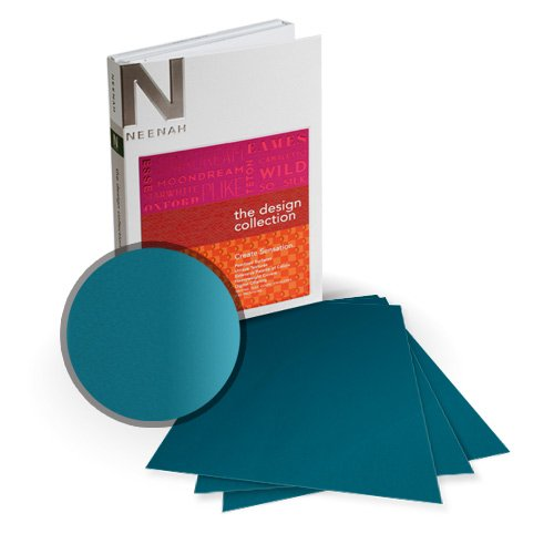 "Neenah Paper So Silk Glamour Green Super Smooth 5.5"" x 8.5"" 130lb Card Stock - 18 Sheets (NSSICGG566-C), Neenah Paper brand Image 1"