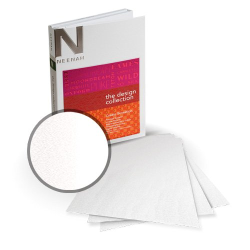 "Neenah Paper So Silk White Silk Super Smooth 5.5"" x 8.5"" 130lb Card Stock - 18 Sheets (NSSICWS566-C) - $9.89 Image 1"