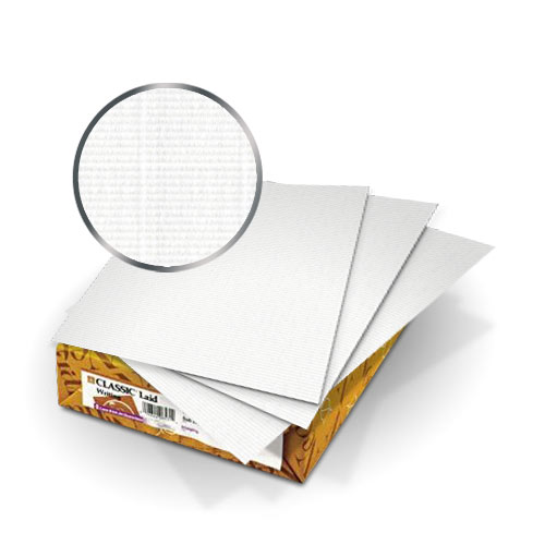 "Neenah Paper Solar White Classic Laid 80lb 9"" x 11"" Covers With Windows - 50 Sets (MYCLC9X11SW80W) Image 1"