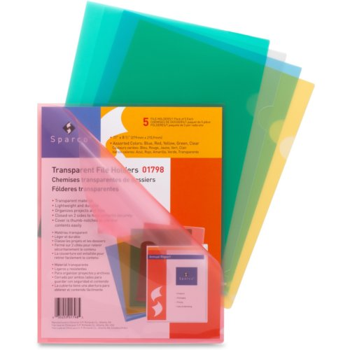 Sparco Transparent Letter Size File Holders (STLSFH10PK) Image 1