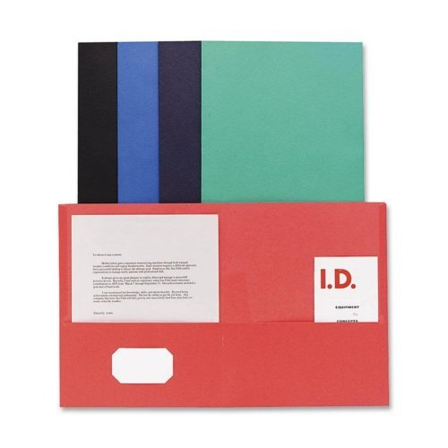 Sparco Assorted Two-Pocket Portfolio - 25pk (SPR71434), Sparco brand Image 1