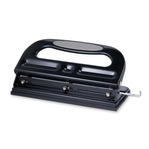 Sparco Black/Gray Heavy-Duty Manual 40-Sheet 3-Hole Punch (SPR05267), Sparco brand Image 1