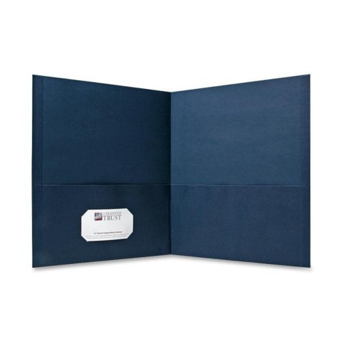 Sparco Dark Blue Two-Pocket Portfolio - 25pk (SPR71437) Image 1