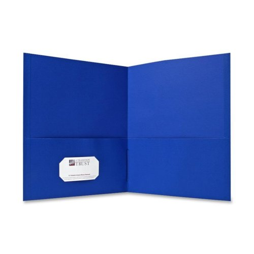 Sparco Light Blue Two-Pocket Portfolio - 25pk (SPR71436) Image 1
