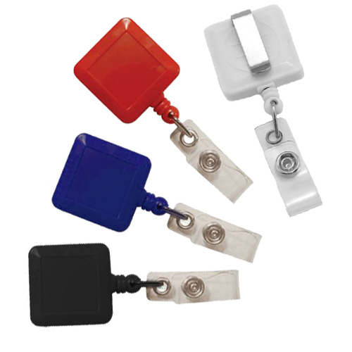 Square Badge Reel with Slide Clip - 25pk (MYSBRSC) Image 1