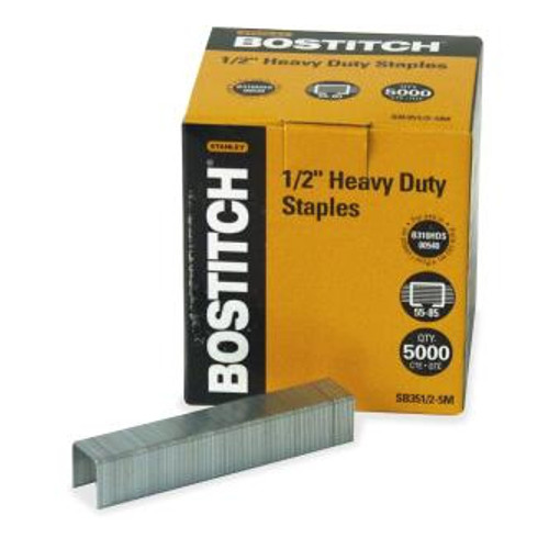 "Stanley Bostitch 1/2"" Heavy Duty Staples 5000pk (BOSSB3512-5M) - $23.46 Image 1"