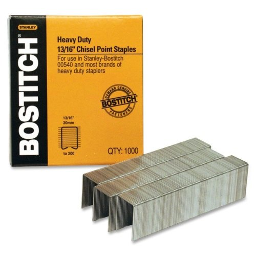 "Stanley Bostitch 13/16"" Chisel Tip Staples 1000pk (BOSSB351316HC1M) Image 1"