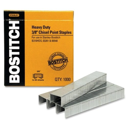 "Stanley Bostitch 3/8"" Chisel Point Staples 1000pk (BOSSB3538-1M) - $4.49 Image 1"