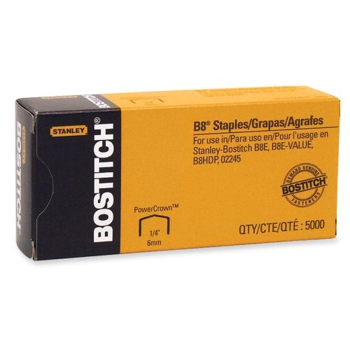 Stanley Bostitch B8 PowerCrown Staples 5000pk (BOSSTCRP2115-14) Image 1