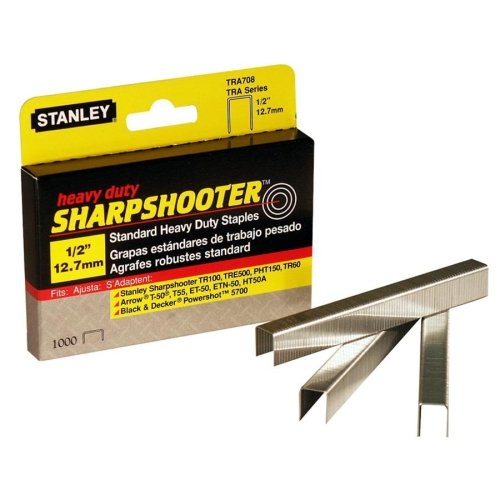 "Stanley Bostitch Sharp Shooter Heavy Duty 1/2"" Staples 1000pk (BOSTRA708T) Image 1"