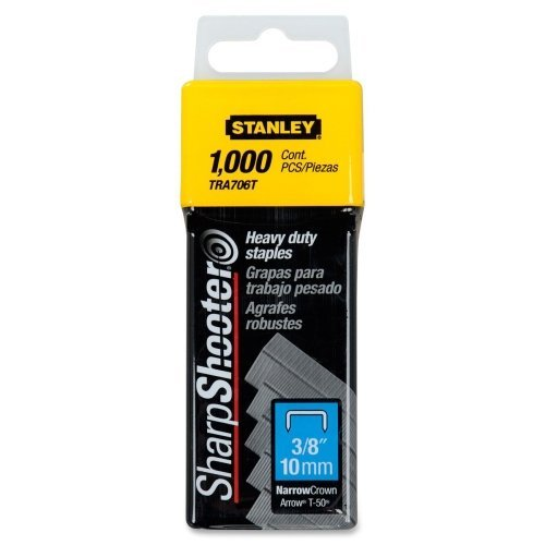 "Stanley Bostitch Sharp Shooter Heavy Duty 3/8"" Staples 1000pk (BOSTRA706T) Image 1"
