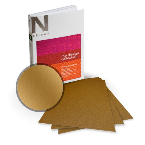 "Neenah Paper Stardream Antique Gold Metallic 8.5"" x 11"" Card Stock - 9 Sheets (NSDCAG461-A) Image 1"