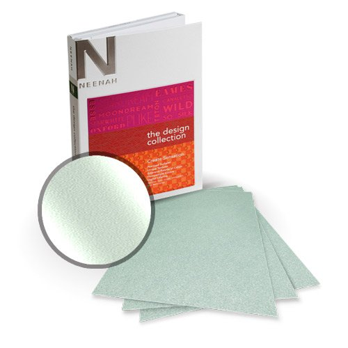 "Neenah Paper Stardream Aquamarine Metallic 8.5"" x 14"" Card Stock - 8 Sheets (NSDCAQ461-D) Image 1"