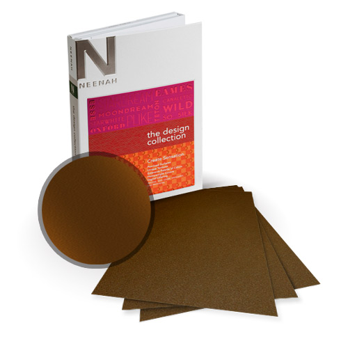 "Neenah Paper Stardream Bronze Metallic 8"" x 8"" Card Stock - 15 Sheets (NSDCBR461-J) Image 1"