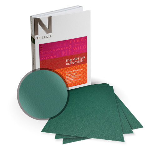 "Neenah Paper Stardream Emerald Metallic 8.5"" x 11"" Card Stock - 9 Sheets (NSDCE461-A) - $9.19 Image 1"