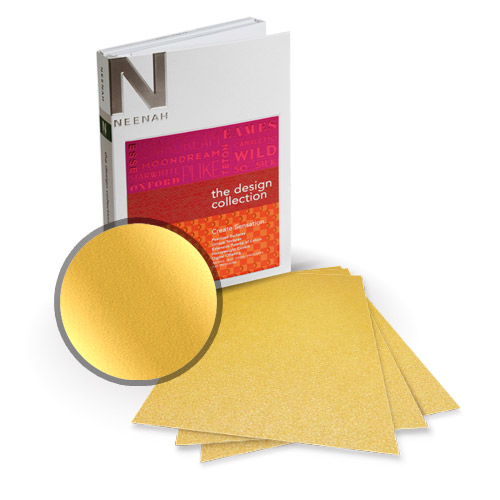"Neenah Paper Stardream Fine Gold Metallic 8"" x 8"" Card Stock - 15 Sheets (NSDCFG461-J) Image 1"