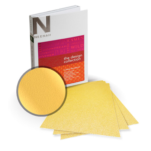 "Neenah Paper Stardream Gold Metallic 5.5"" x 8.5"" Card Stock - 18 Sheets (NSDCGO461-C) - $8.09 Image 1"